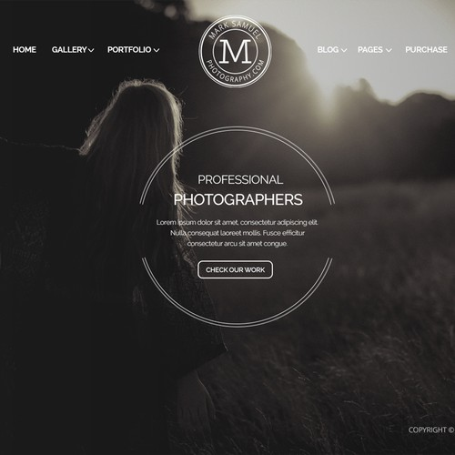 photographer webpage design