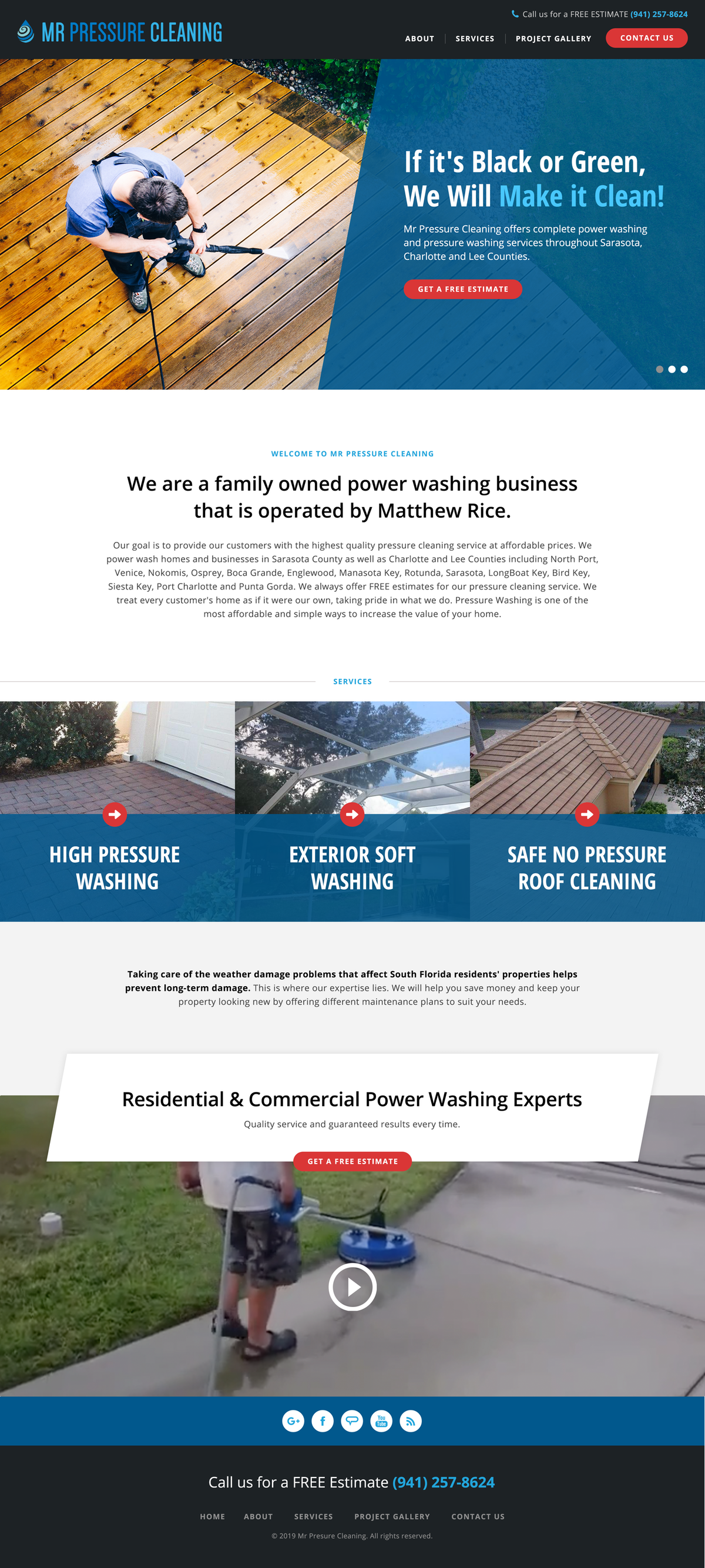Pressure Cleaning Business Site Refresh