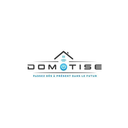 Logo concept DOMOTISE (Home automation)