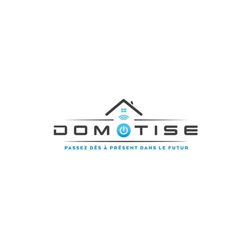 Logo concept DOMOTISE (Home automation)