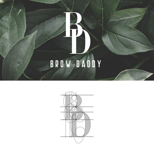 Monogram logo for a beauty brand