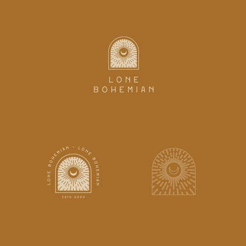 Bohemian-style logo for an upcoming shop