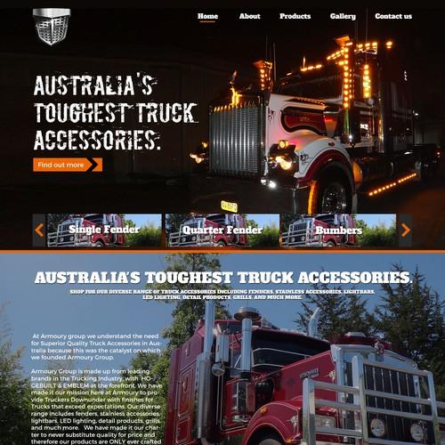 Truck Web Design