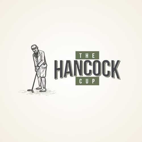 Sketch style design for a country club golf tournament