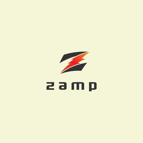 Bold logo for zamp