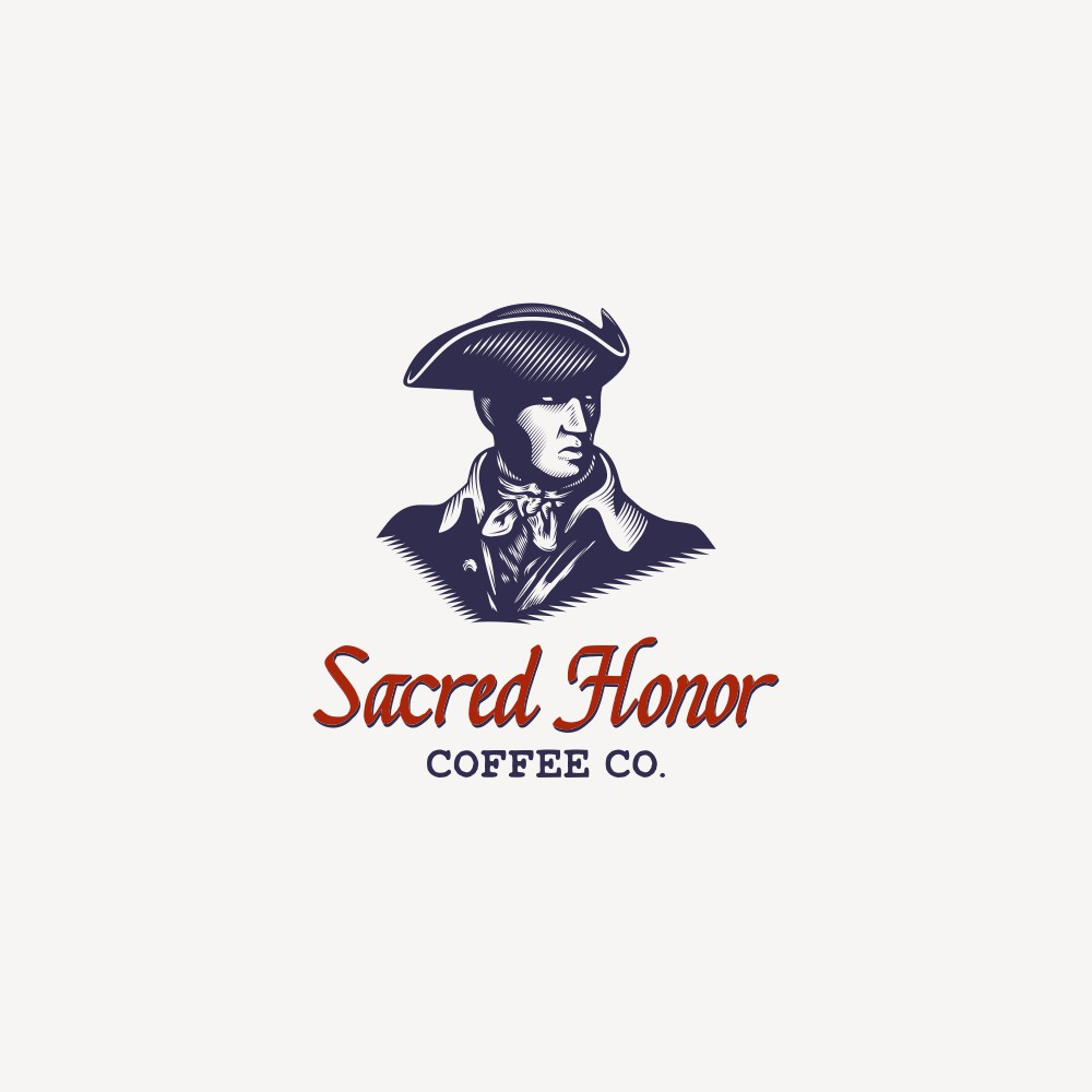 New logo for an online coffee company with an 18th century motif
