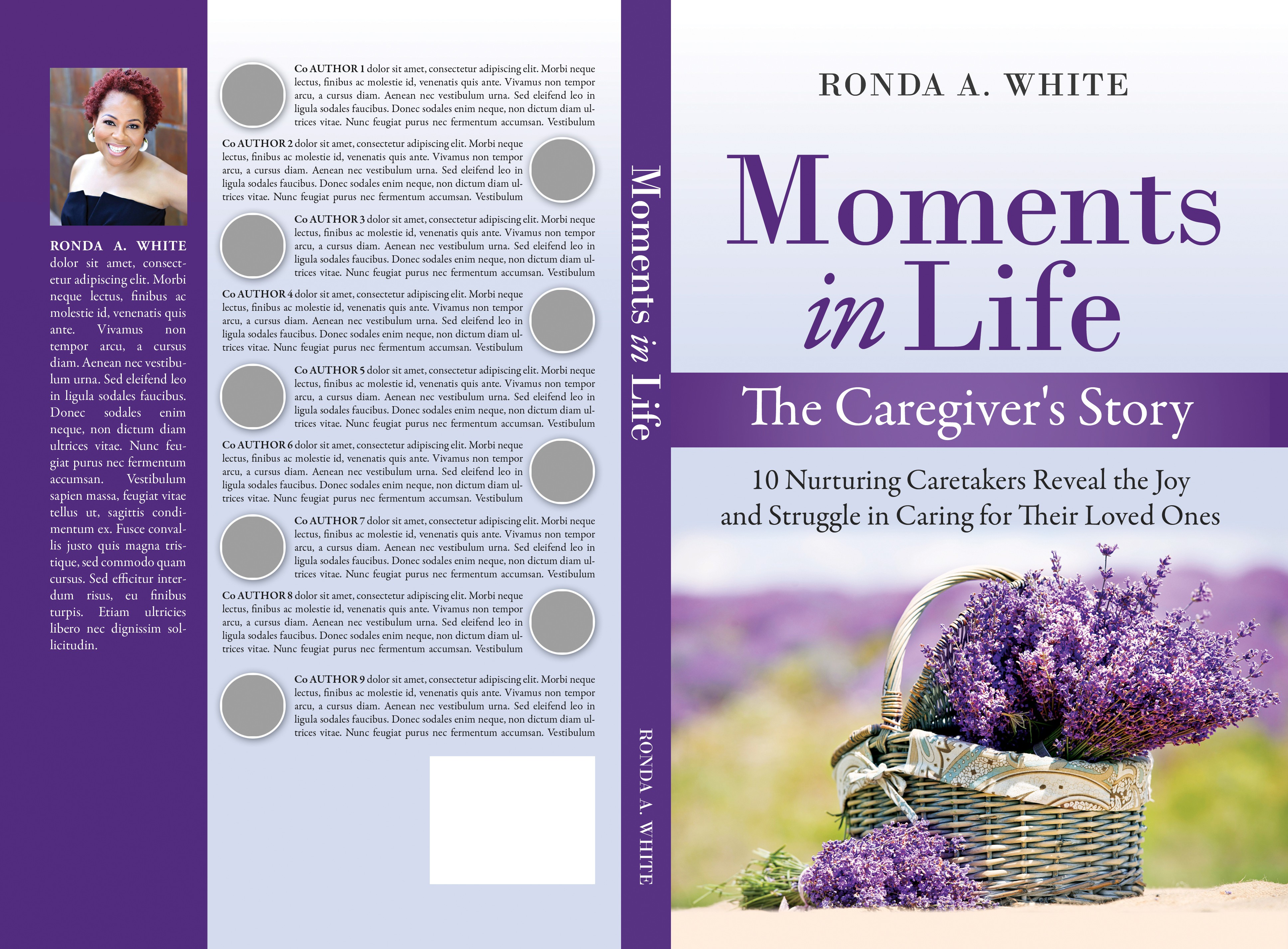 Calming book cover for Caregiver's book