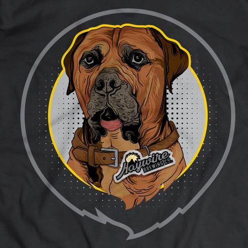 Dog portrait artwork
