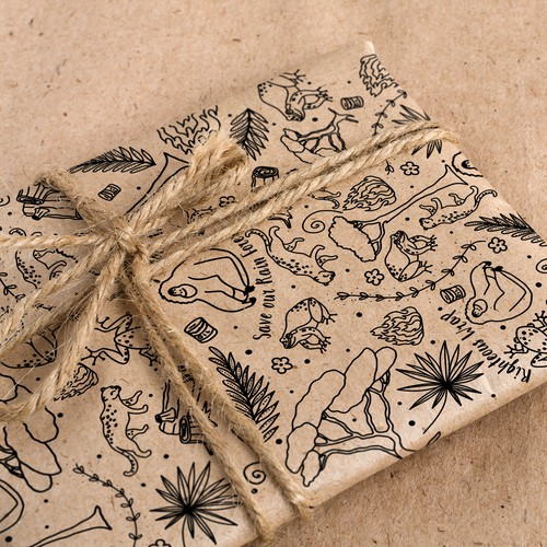 Illustration for wrapping paper