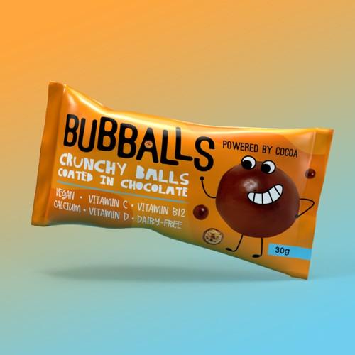 Bubballs Chocolate Snack Design Concept