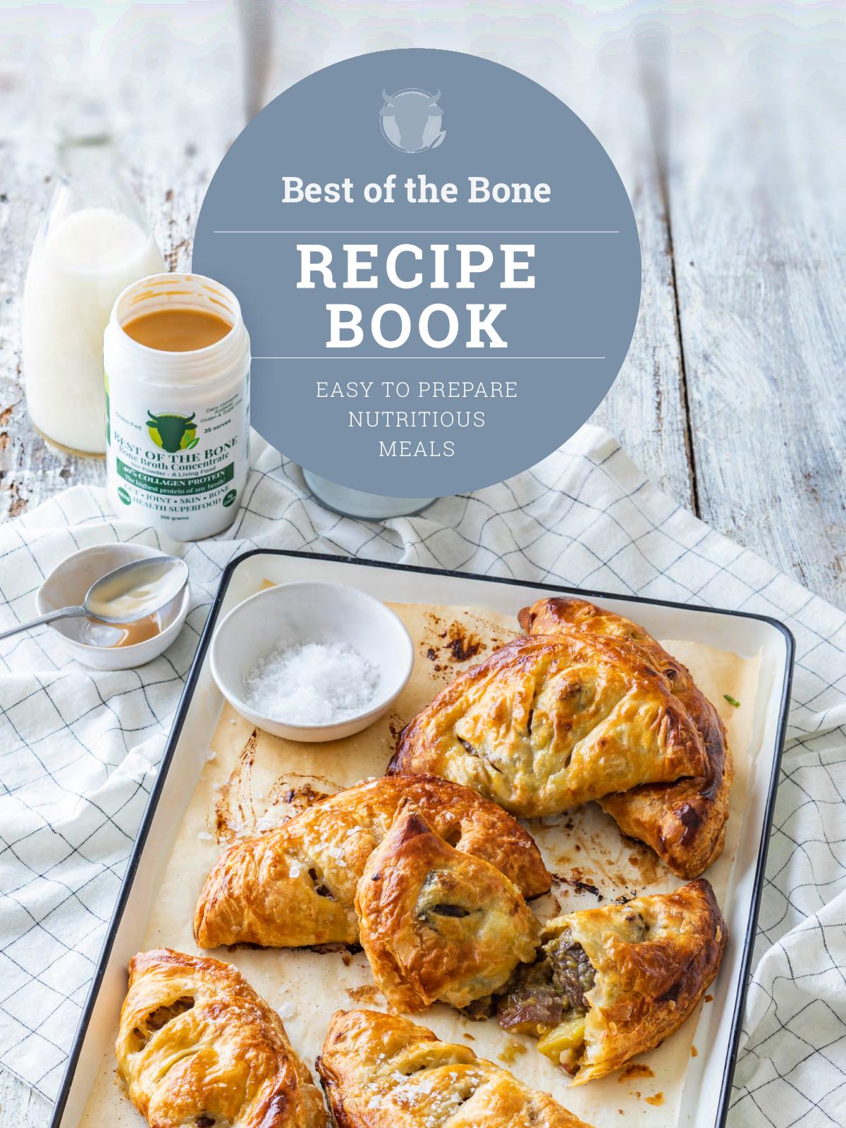 Recipe book cover and interior design