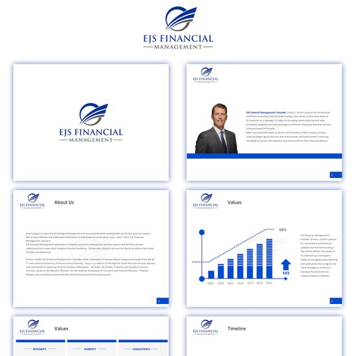 powerpoint design for financial company