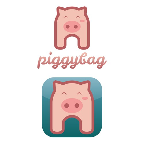 Piggybag Logo and App Icon