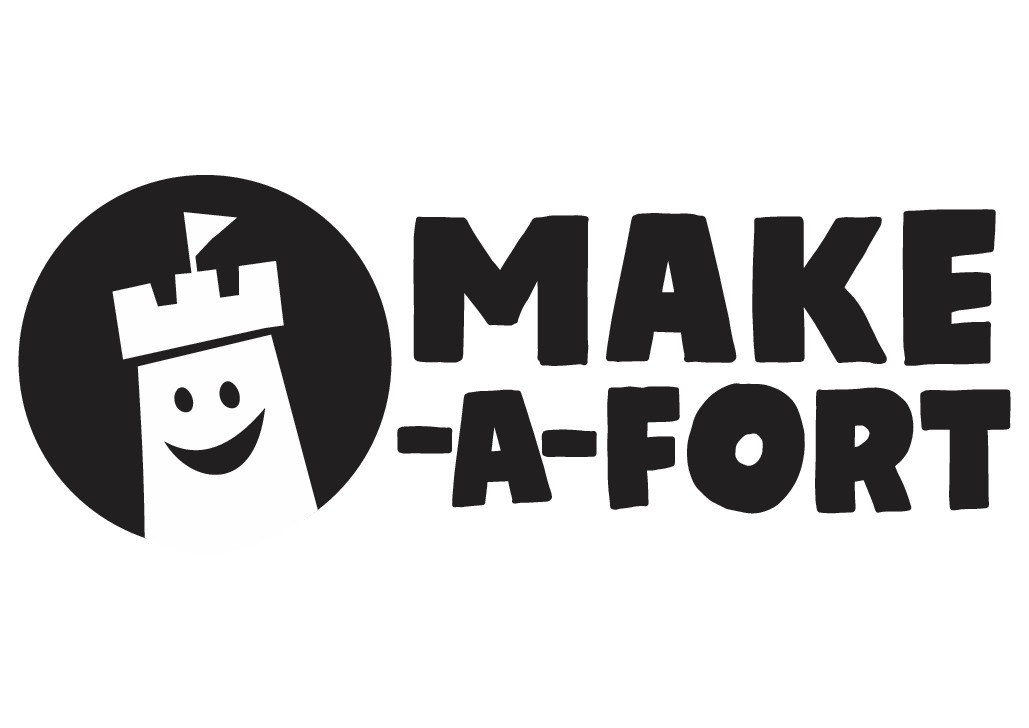Make-A-Fort Logo - Logo for a new creative building toy for kids