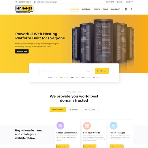 Website Design Domain & Hosting