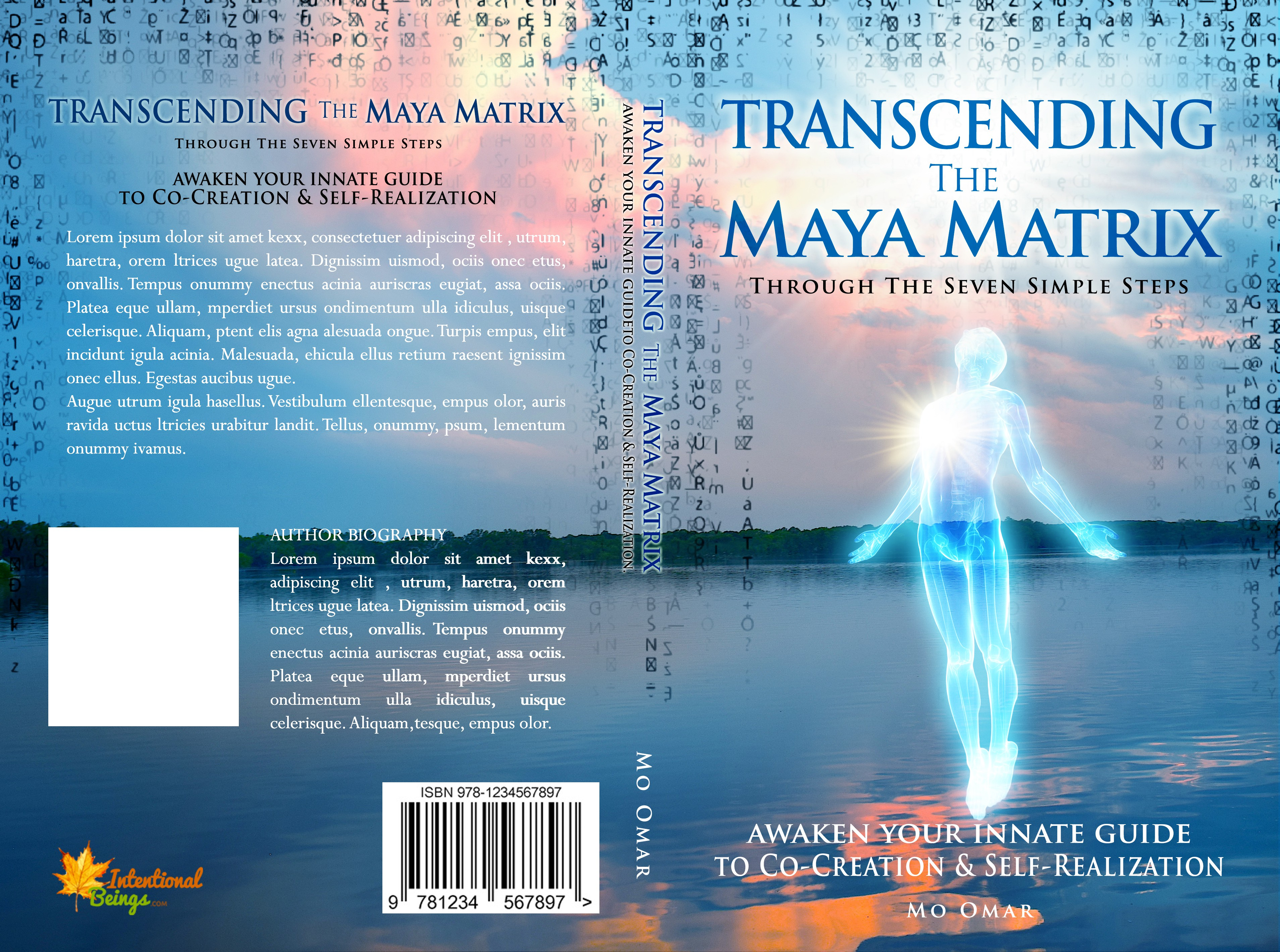 design spiritual book cover for Intentional Beings