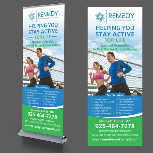 Pull Up Banner for Remedy