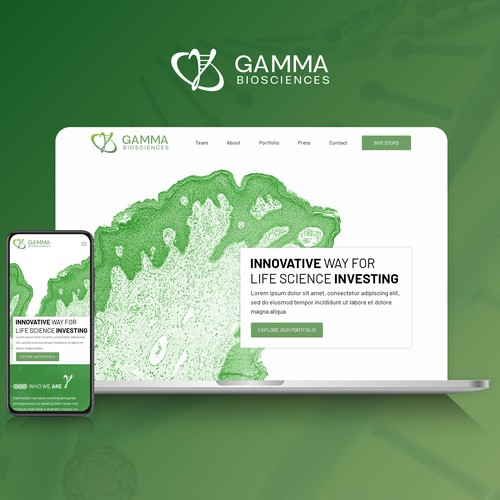 A Moder Website for Gamma Biosciences