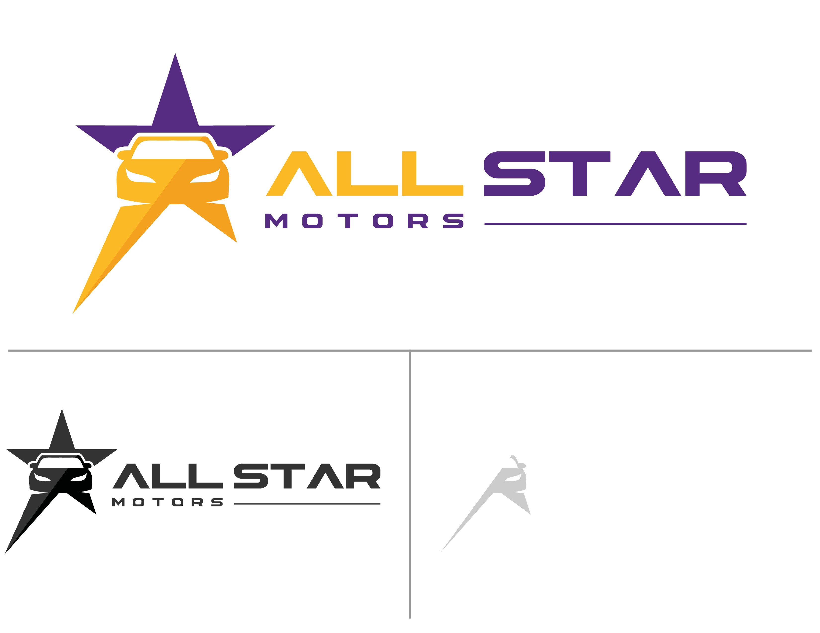 Create a cool new logo for a used car dealership - All-Star Motors