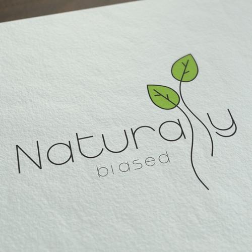Logo concept for healthy nutrition blog