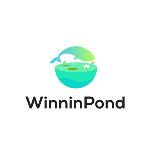 Playful modern logo for a Youtube channel called Winning Pond