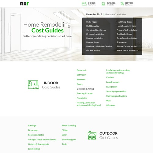 "Webdesign ""Home Remodeling Cost Guides"""