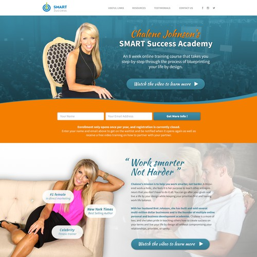 "Landing Page for ""Smart Success Academy"""