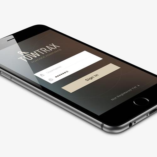 Innovative  UI concept for roadside assistance app