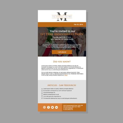 Simple Email Invitation Newsletter Design