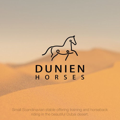 Bold logo design for Dunien Horses