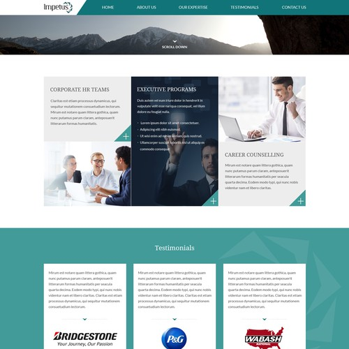 Homepage Design For Corporate Psychological Services