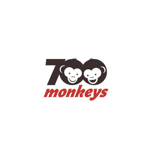 Logo for '700monkeys'