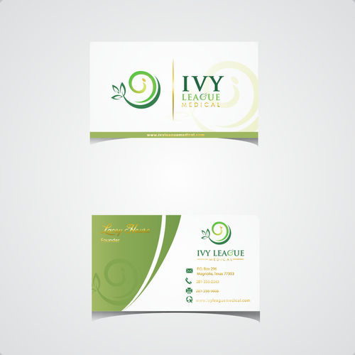 Green medical logo & business card