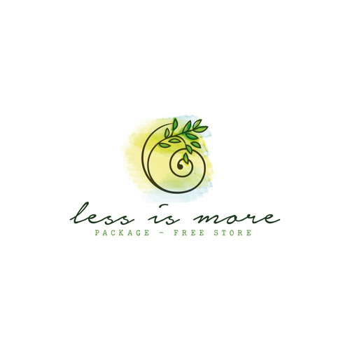 less is more logo