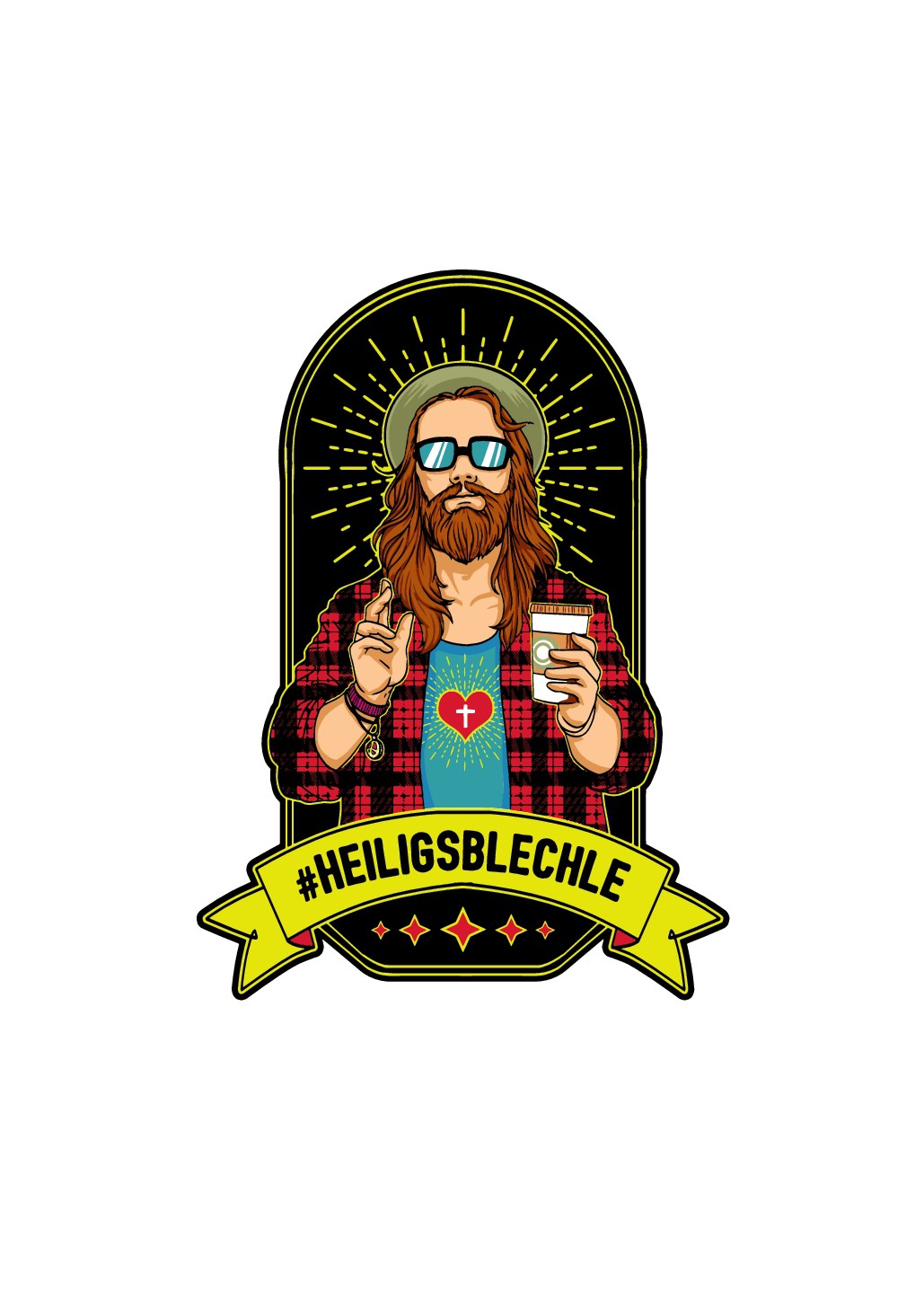 Hipster Jesus design for a drinkbottle