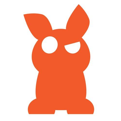 Simple Design of Unreal, Fictional Animal Sticker