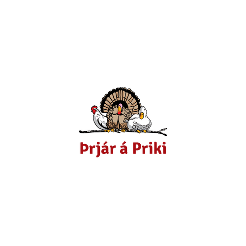 logo for bird meat store and catering service