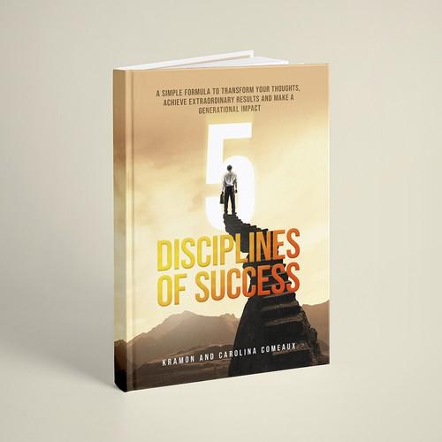 Book Cover Design for 5 Disciplines of Success