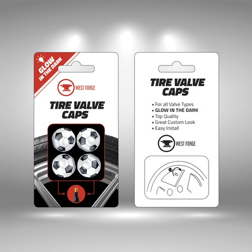 Tire Valve Caps Packaging