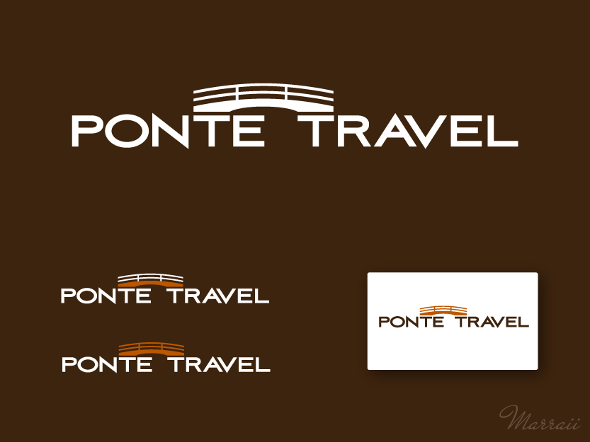 Create the next logo for Ponte Travel