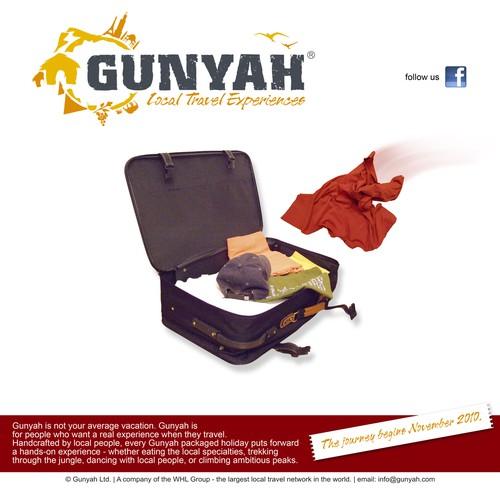 Web page proposal for Gunyah Travel agency