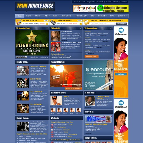 Redesign #1 Caribbean Entertainment website