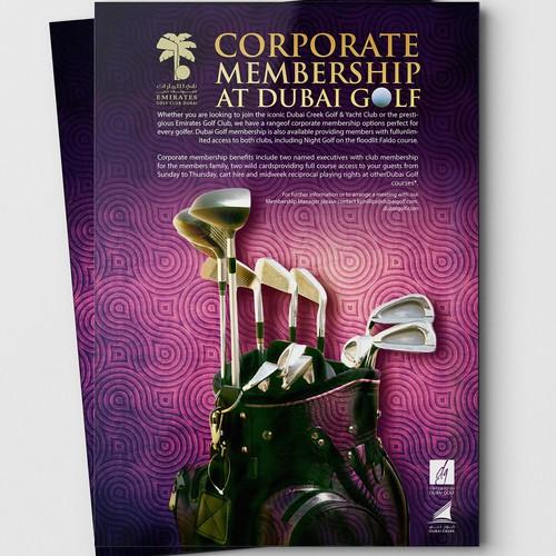 Design a Corporate Golf Advert for Dubai Golf
