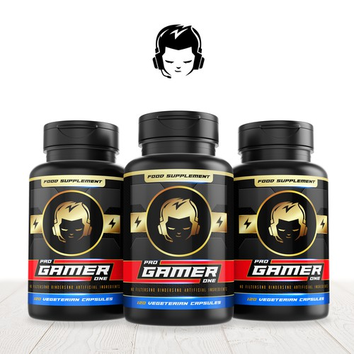 New Supplement Designed For Gamers - Bottle Label Design Needed!
