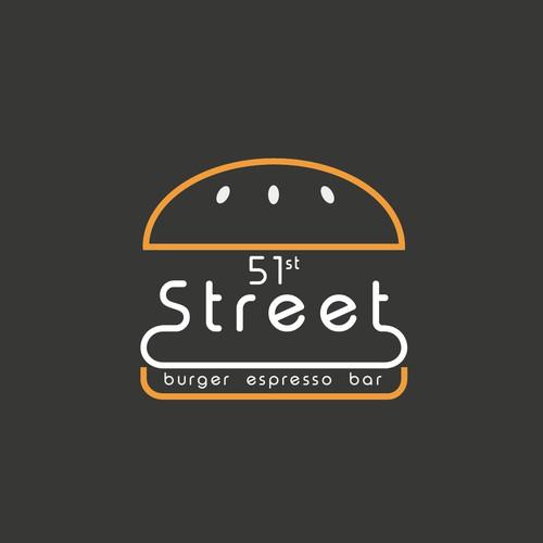 Concept logo for a burger & espresso bar