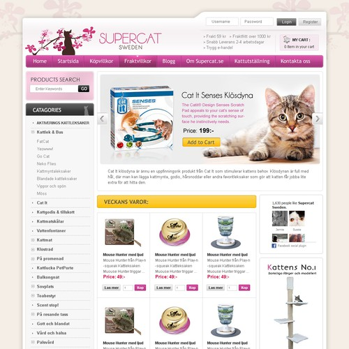 Supercat webshop needs a new website design