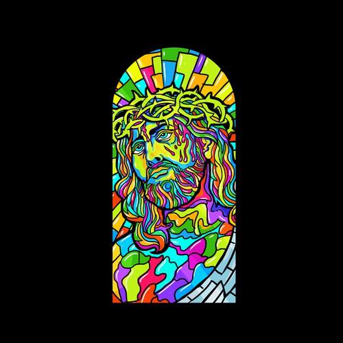 stain-glass design