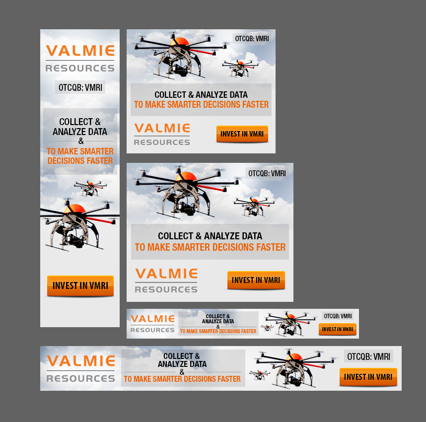 Banner Ad Design for Valmie Resources