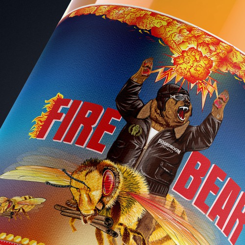 FireBear Cinnamon & Honey Whisky label