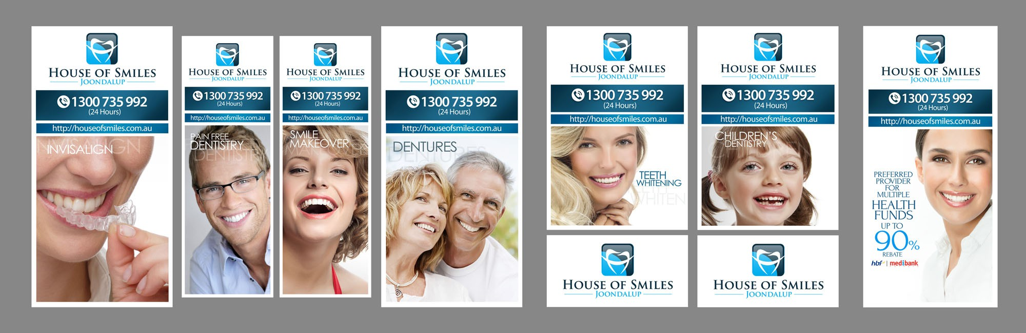 HIGH END DENTAL SURGERY NEEDS BANNERS FOR WINDOWS